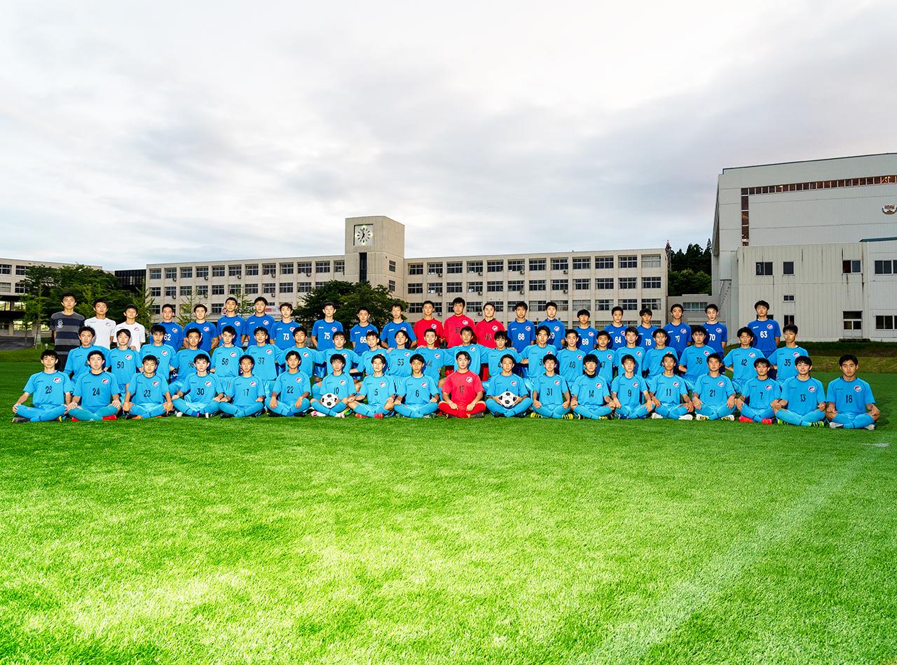 秋田のサッカーをリードするために 困難な1年を全員で戦い抜く             明桜高校
